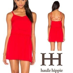 Haute Hippie 100% Silk Mini Dress